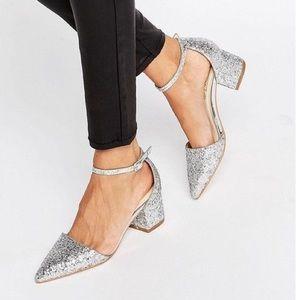 🤩ASOS🤩 EUC Glitter Block Heels *Worn Once*